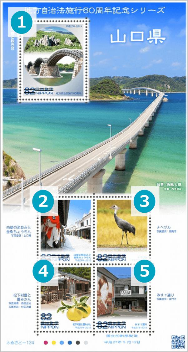 山口県の地方自治法施行60周年記念切手