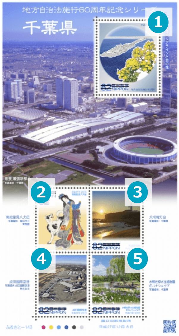 千葉県の地方自治法施行60周年記念切手