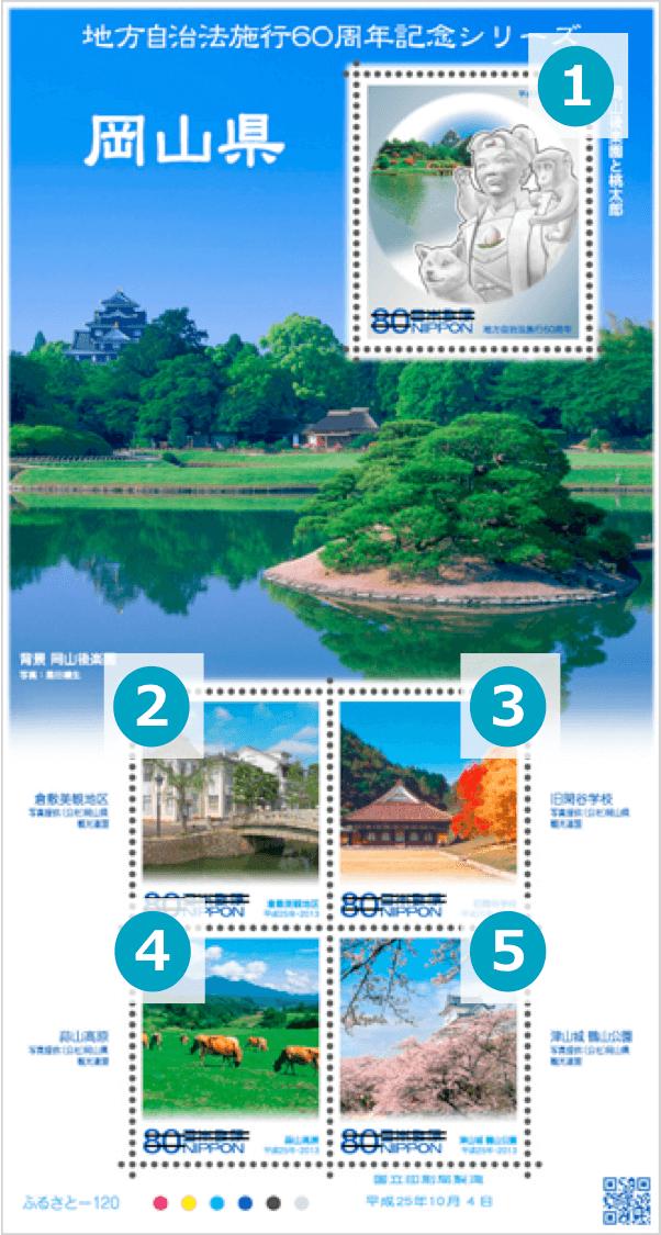 岡山県の地方自治法施行60周年記念切手