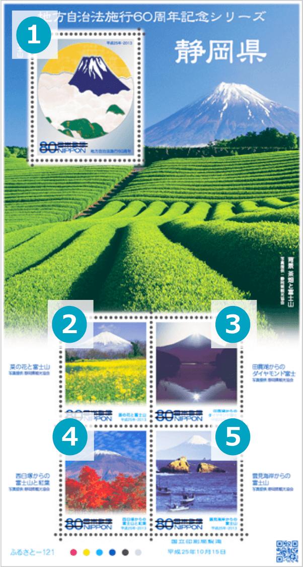静岡県の地方自治法施行60周年記念切手