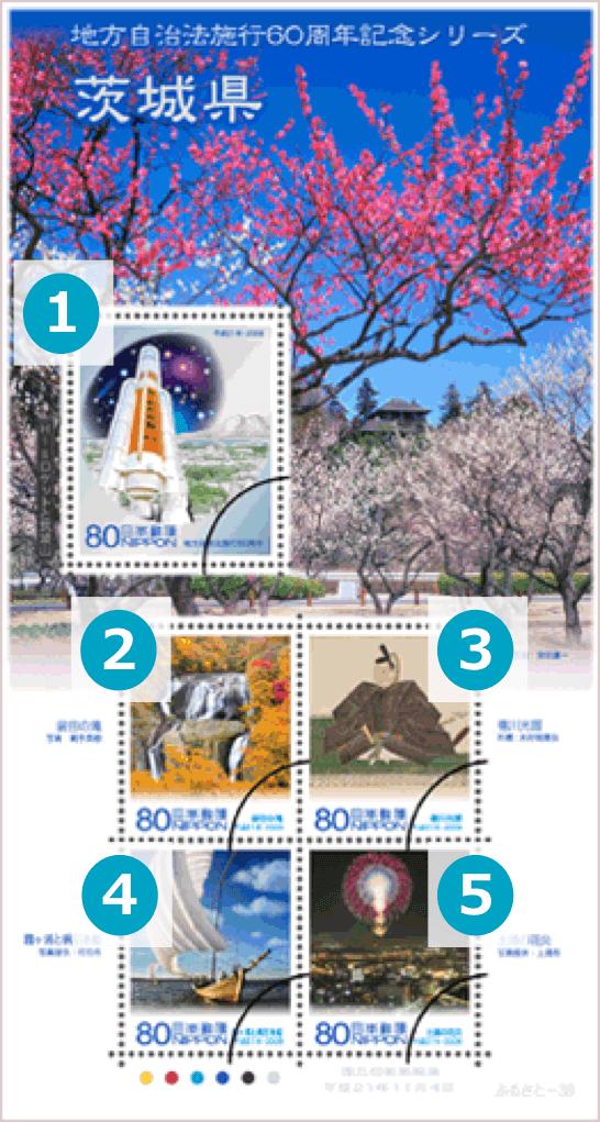 茨城県の地方自治法施行60周年記念切手