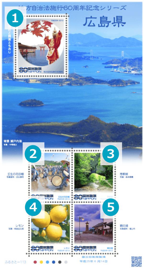 広島県の地方自治法施行60周年記念切手