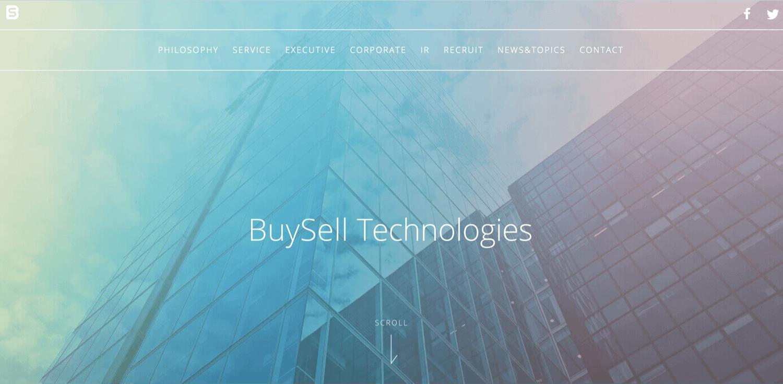 株式会社BuySell TechnologiesのHPトップ